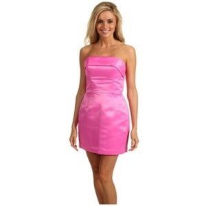 Betsy Johnson pink strapless cocktail dress size 0